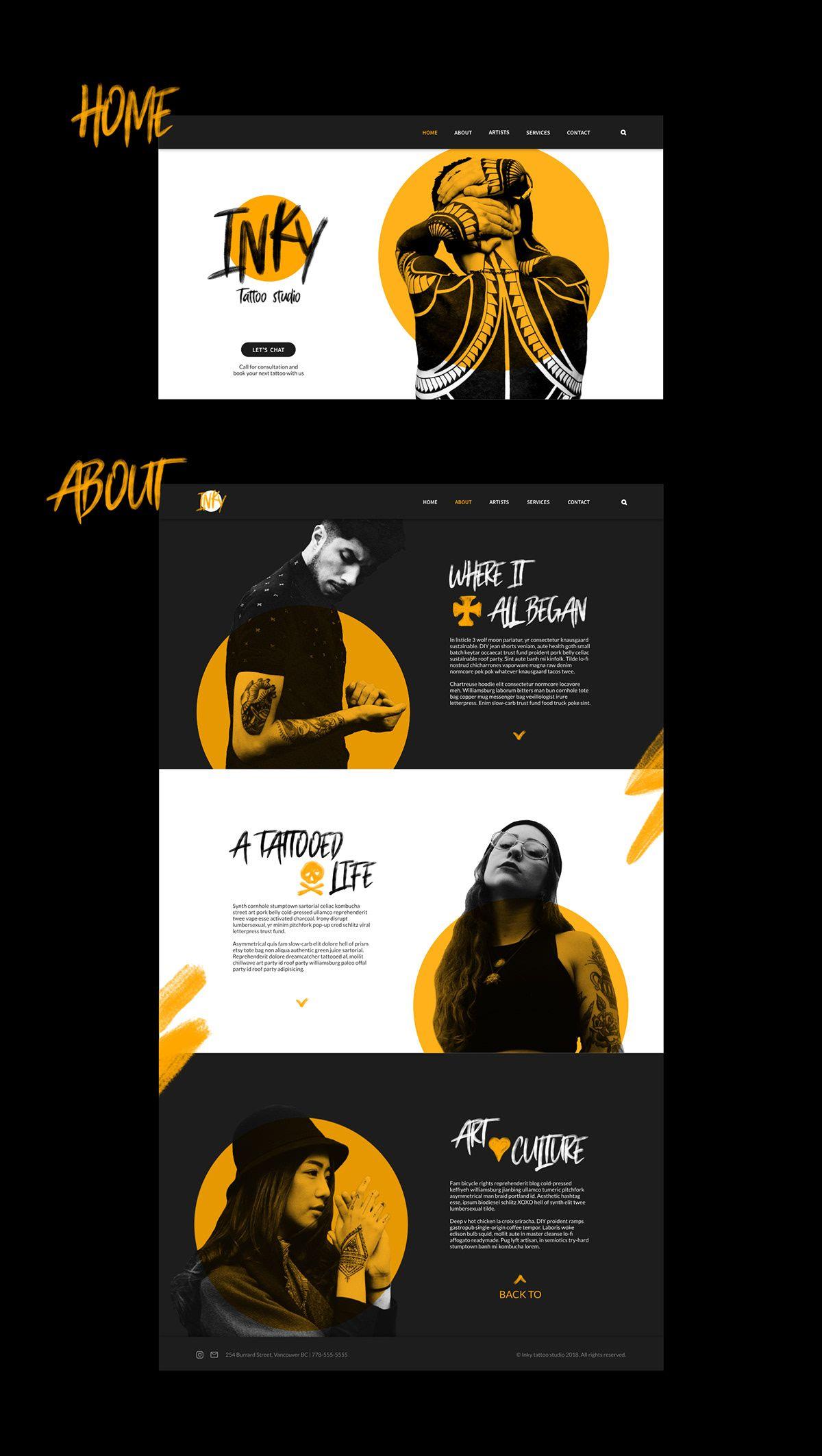 Inky Tattoo Studio Web design