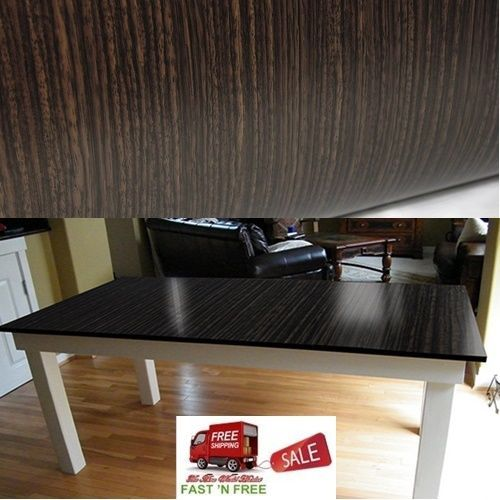 Dark wood grain vinyl wrap film diy self adhesive wrap furniture counter kitchen vvivid