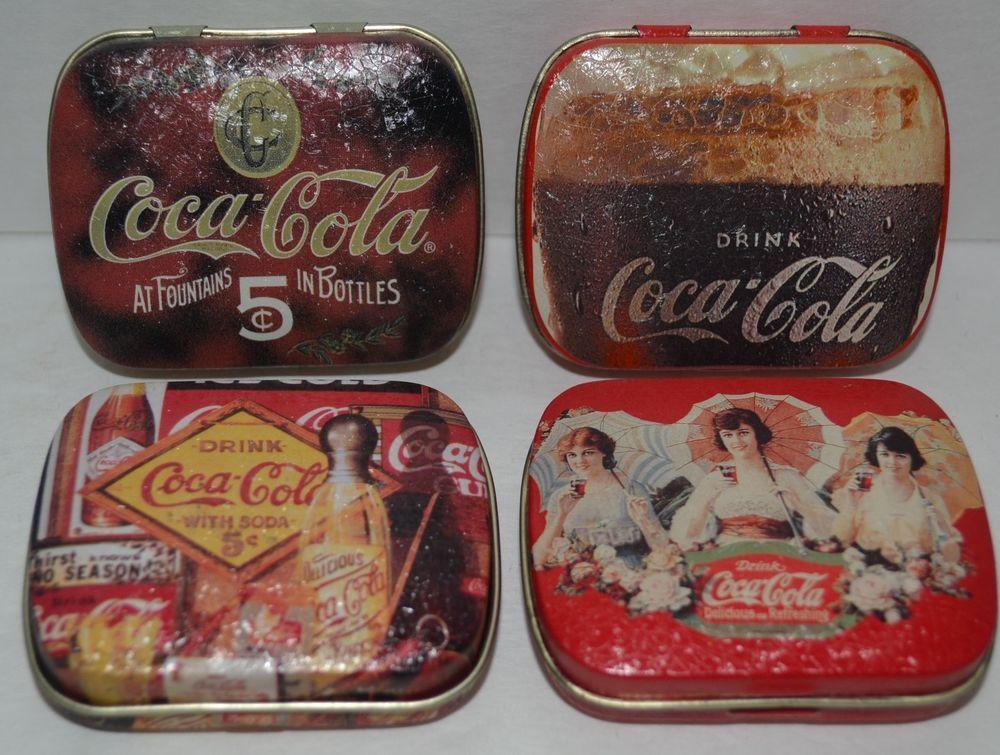 5899b4e57c78 Coca-Cola Collectable Mint Tins Boxes Vintage