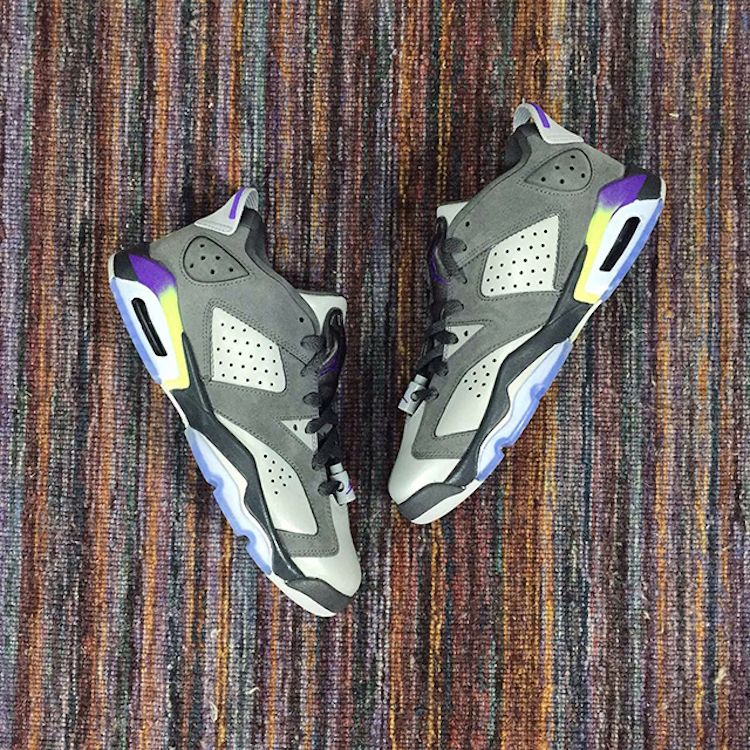 Air Jordan 6 Low Grey Purple–Neon  5e4cb64b0