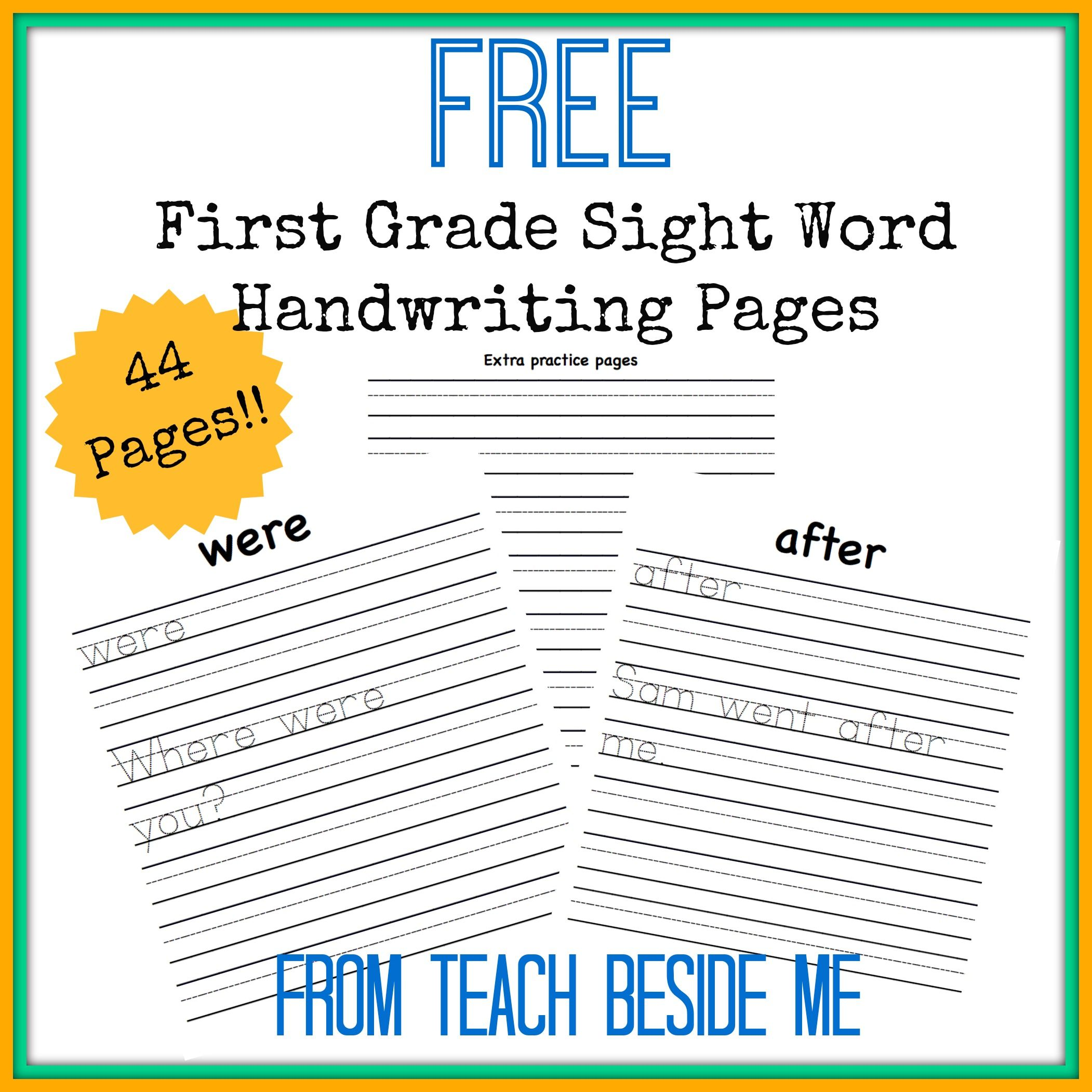 First Grade Sight Word Handwriting Pages First Grade Sight Words First Grade Writing Teaching First Grade [ 2102 x 2102 Pixel ]