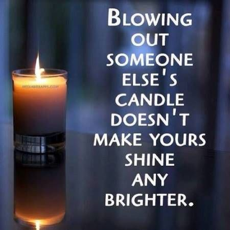 blowing out someone else's candle