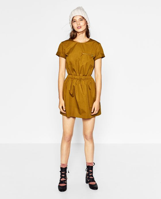 1732b3d21e4 Image 1 of JUMPSUIT DRESS WITH FULL SKIRT from Zara