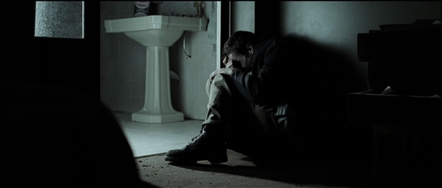 Something like this for bathroom scene in terms of lighting and post-production colouring (quite desaturated). Dark with only a light above the mirror or ... & Something like this for bathroom scene in terms of lighting and post ...