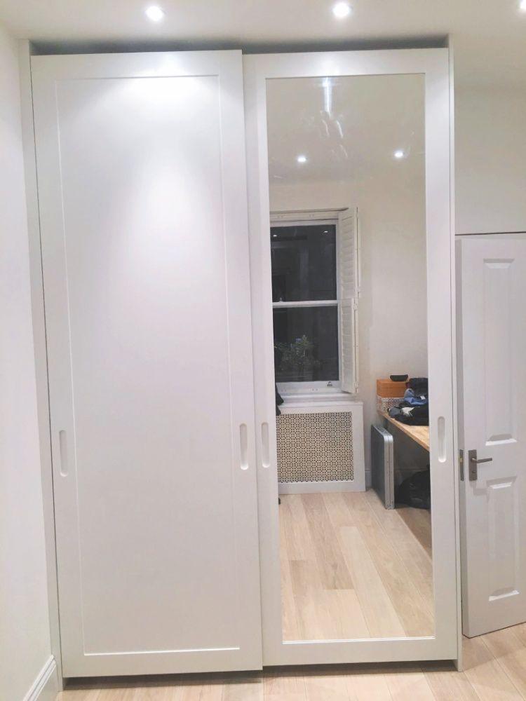 Mirrored Replacement Sliding Doors Closet Mirror Door Wardrobe