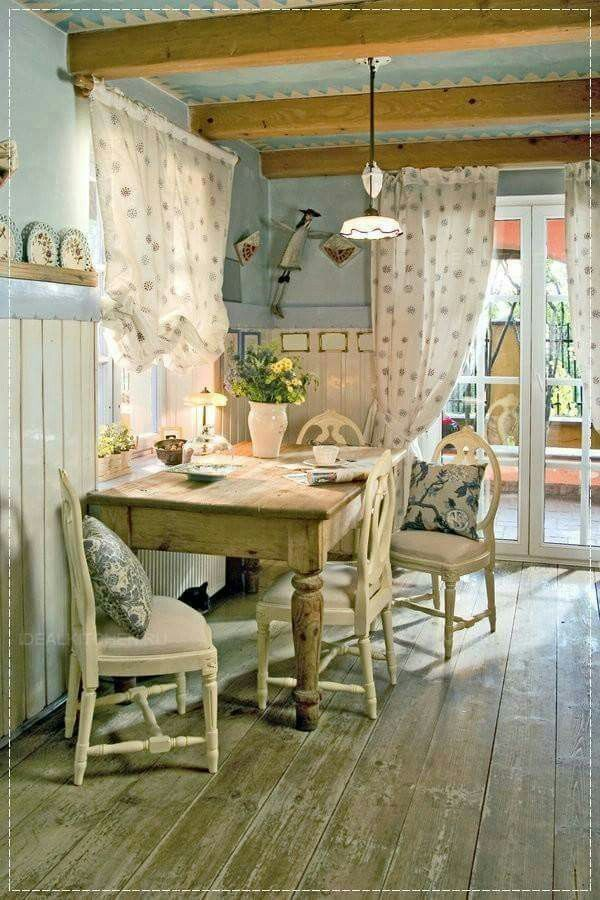 Shabby Chic Curtains Living Room French Country
