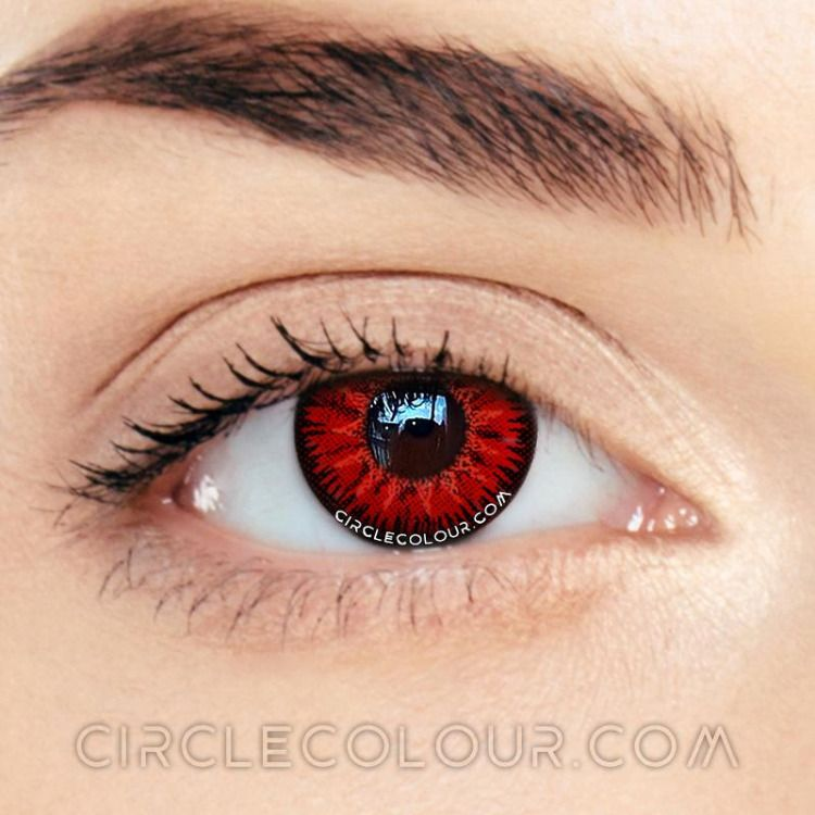 circlecolour.com Single Demon Red Cosplay Colored Contacts Lens #cheapcolorcontacts #colorcontactlenses #coloredeyecontacts #cosplaycontacts #nonprescriptioncoloredcontacts #coloredeyecontacts