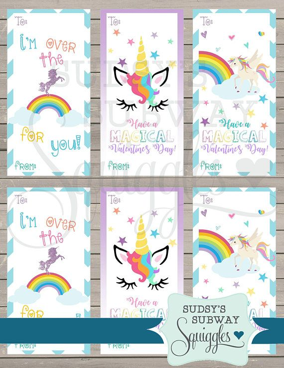 Colorful And Fun Unicorn Valentines Day Cards For The Clroom