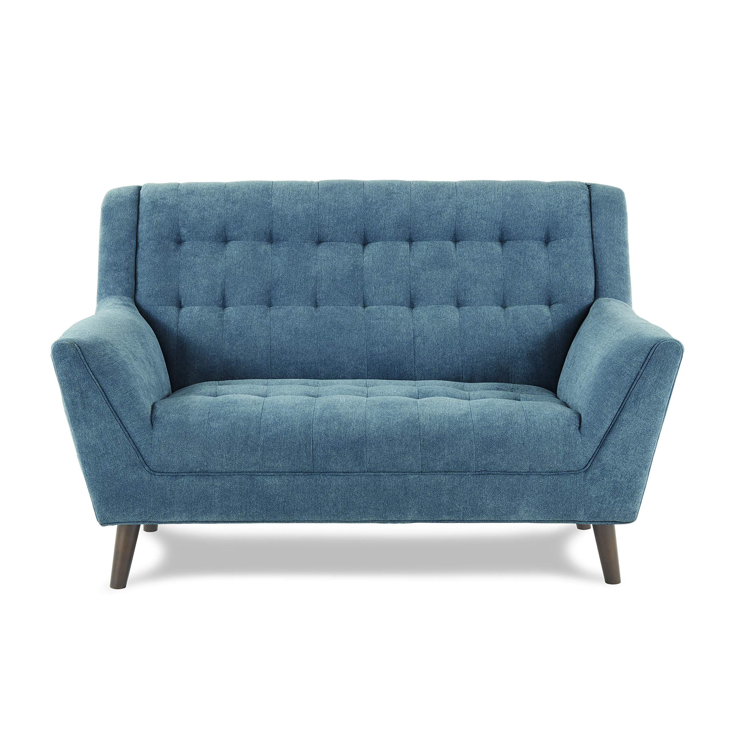 Homelegance Erath 63 Fabric Loveseat Blue In 2020 Love Seat Ikea Sofa Bed Cheap Couch