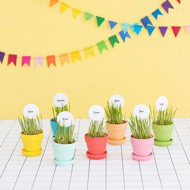 Make the cutest mini placecard holders They are so easy Weve