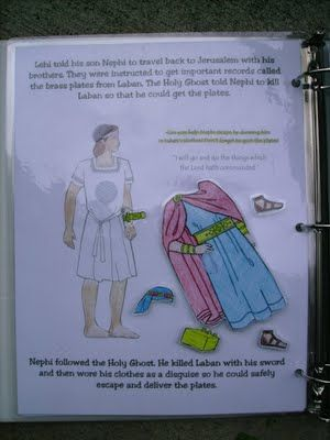 Book of Mormon for kids--Can you help Nephi escape by dressing him in Laban's clothes?  Don't forget the brass plates!  It's awesome!