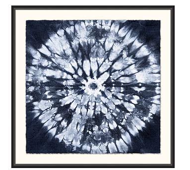 Shibori Circle Framed Print Cuadros Shibori