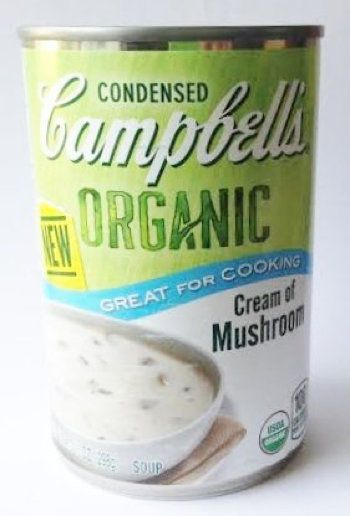 Campbell S Organic Cream Of Mushroom Soup Pack Of 11 Campbells