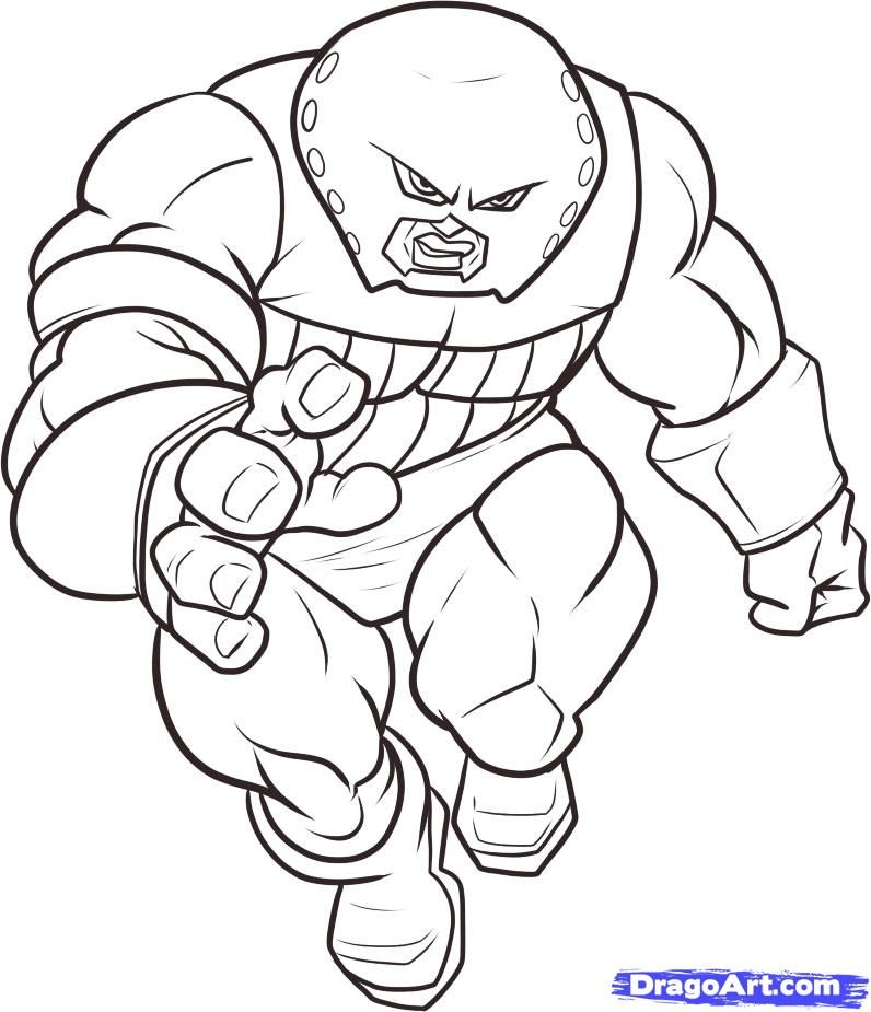 How To Draw Juggernaut By Dawn Marvel Coloring Superhero