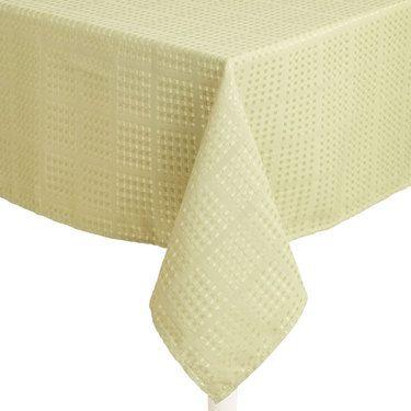 Hyde Park Dobby Check Tablecloth Sage 180 X 180 Cm