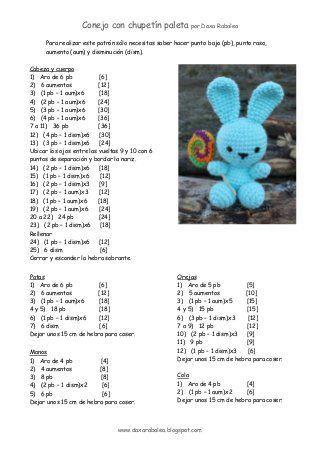 Patron conejo con chupetin _ crochet | Crochet | Pinterest ...