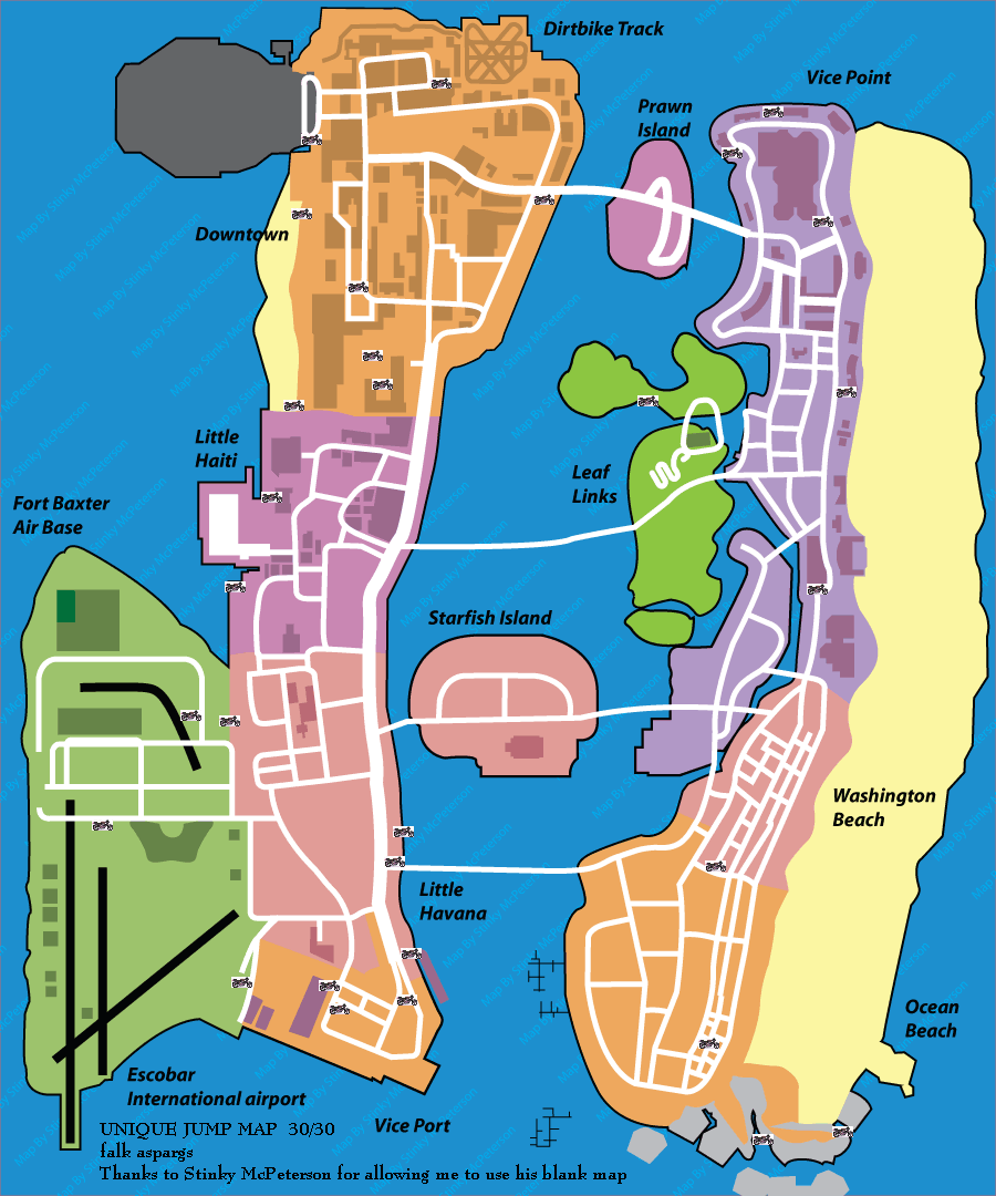 Vice City Map Properties Pin by Filip Cvetic on...