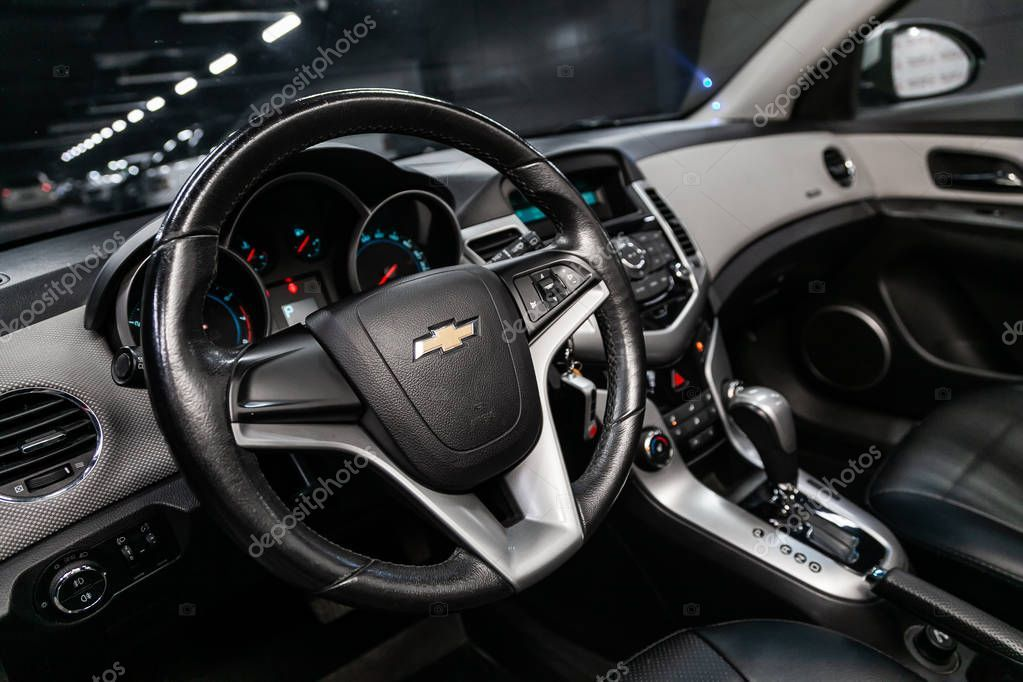 Novosibirsk Russia August 2019 Chevrolet Cruze Close Dashboard