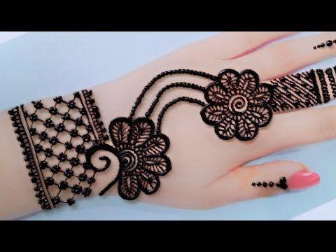 Gol tikki jewelry mehndi back hands_Easy Mehandi Design-Henna Design_Eid Mehndi Design_Simple Mehndi - YouTube