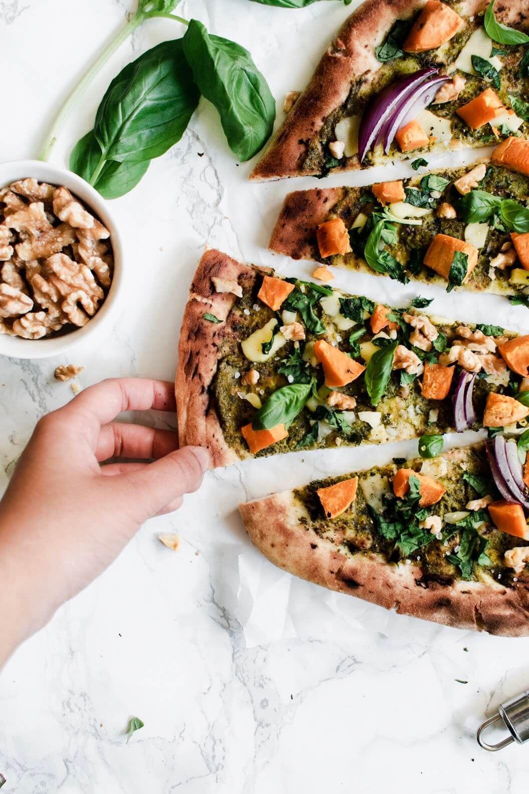 Vegan Naan Pizza