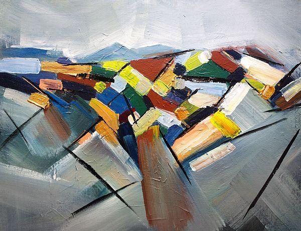 0d39ac00d Abstract Landscape   Art Prints   Modern art paintings, Landscape ...