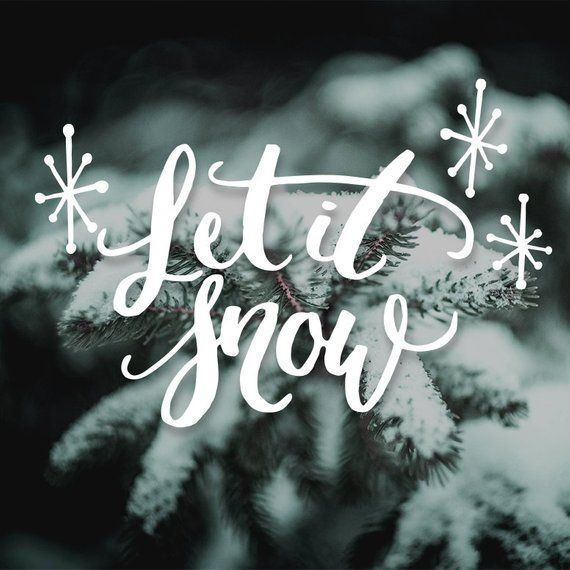 Christmas SVG file, Let it snow, Printable quote, Christmas clipart