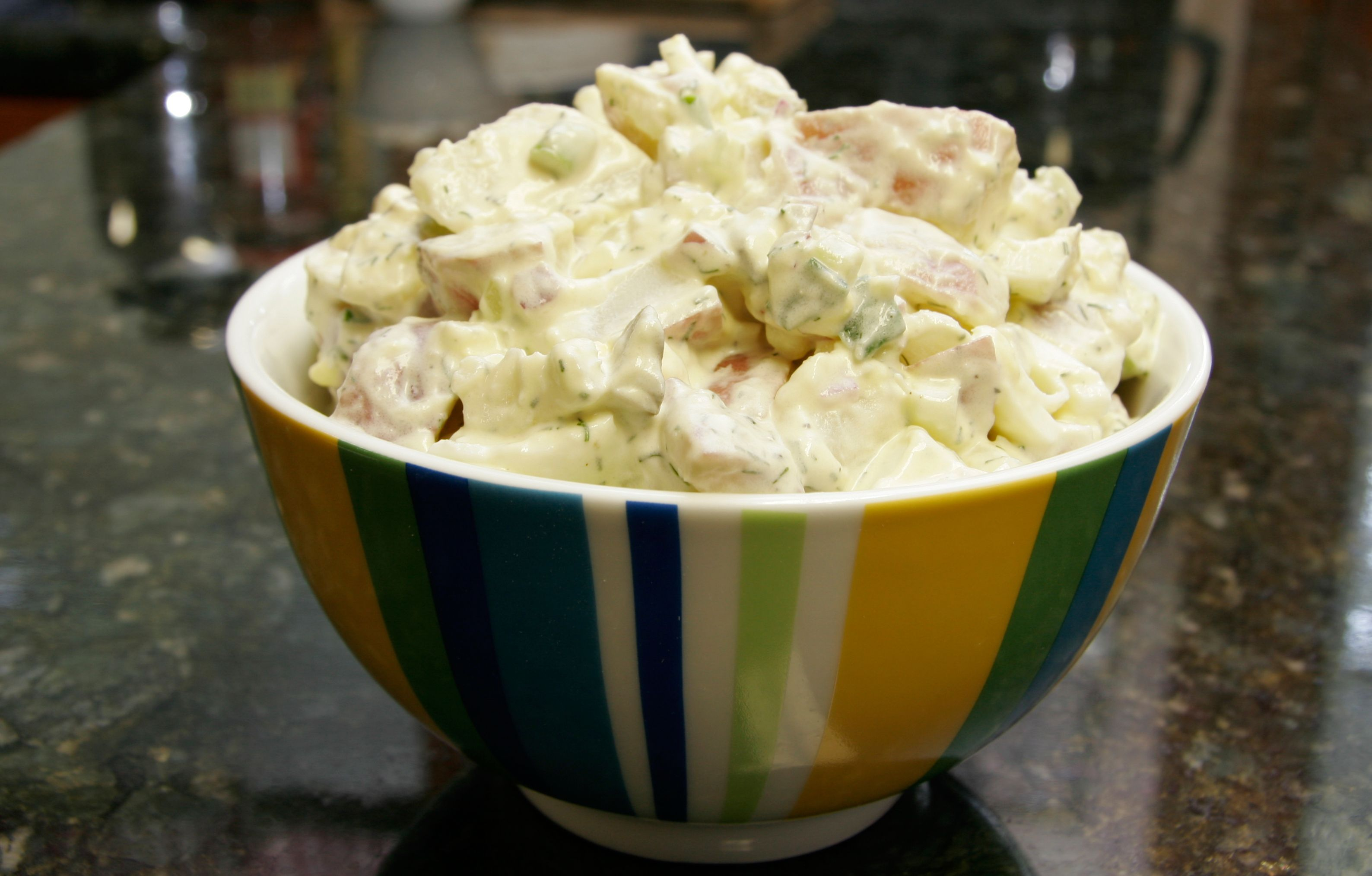 Creamy Potato And Egg Salad With A Tangy Sour Cream Dressing Recipe In 2020 Sour Cream Potato Salad Sour Cream Potatoes Creamed Potatoes