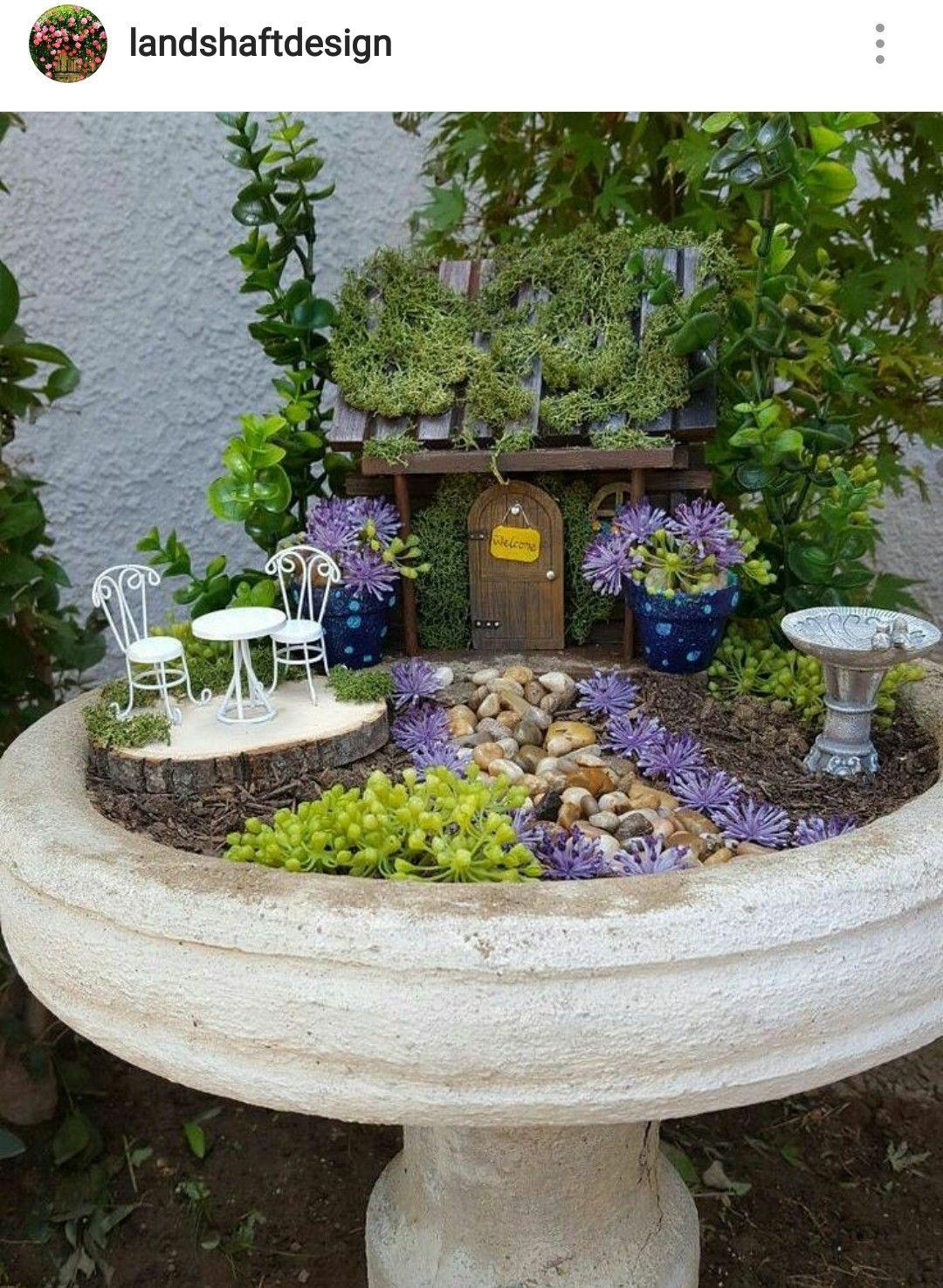 Bird Bath Fairy Garden U2026 More   Gardening Live