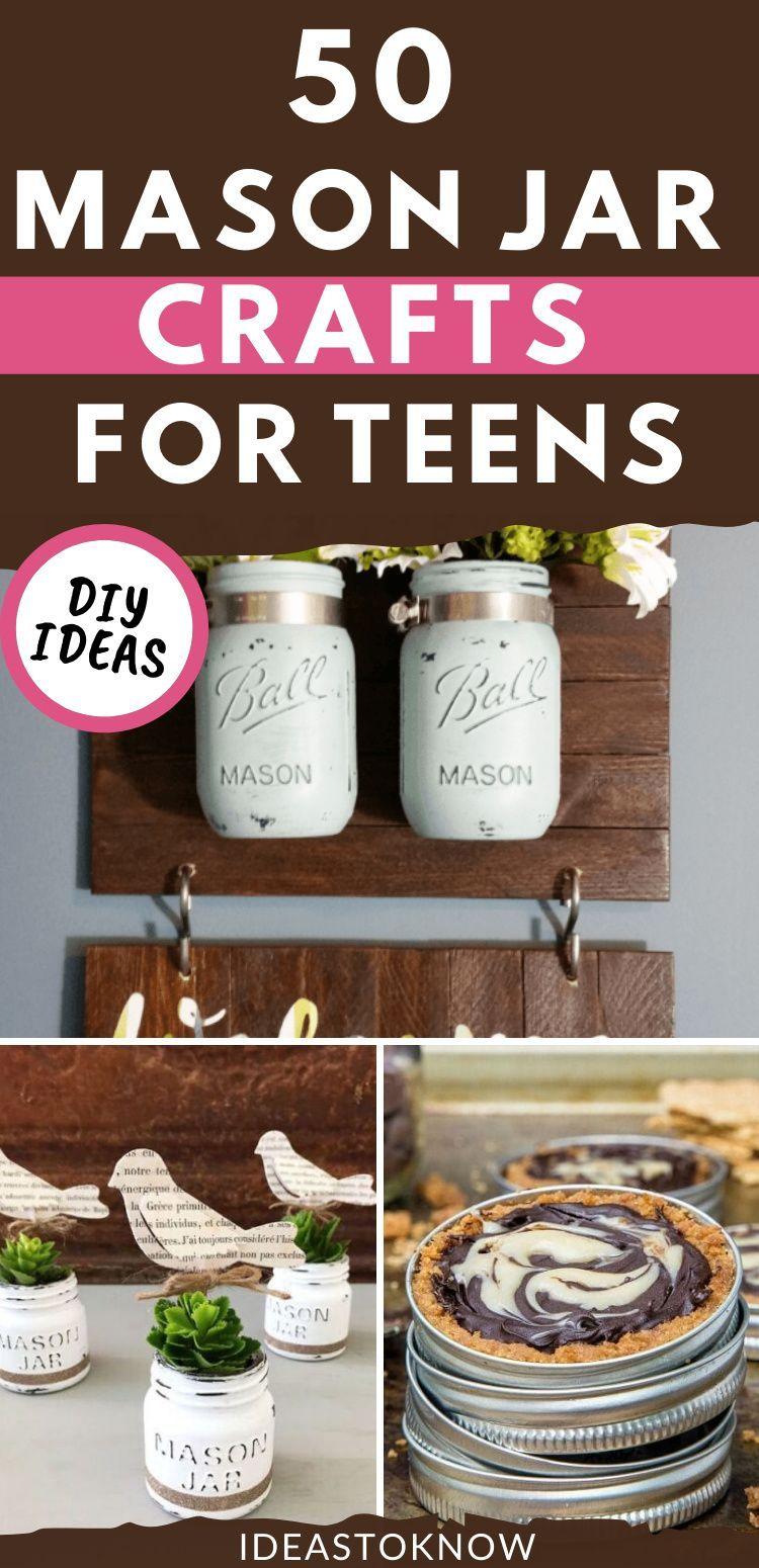 50 Cute Diy Mason Jar Crafts In 2020 Mason Jar Crafts Diy Jar Crafts Mason Jar Diy