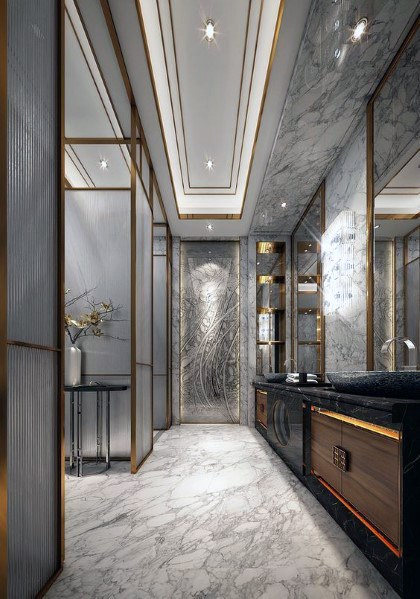 Top 60 Best Master Bathroom Ideas Home Interior Designs Contemporary Master Bathroom Modern Master Bathroom Bathroom Lighting Design