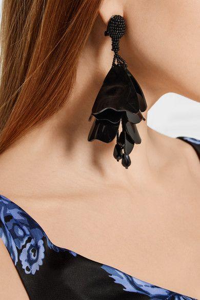 Oscar de la Renta | Impatiens resin clip earrings