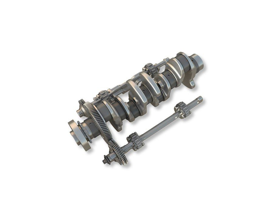 An offset crankshaft is integral to the higher efficiency and lower vibration in the E-Class engine