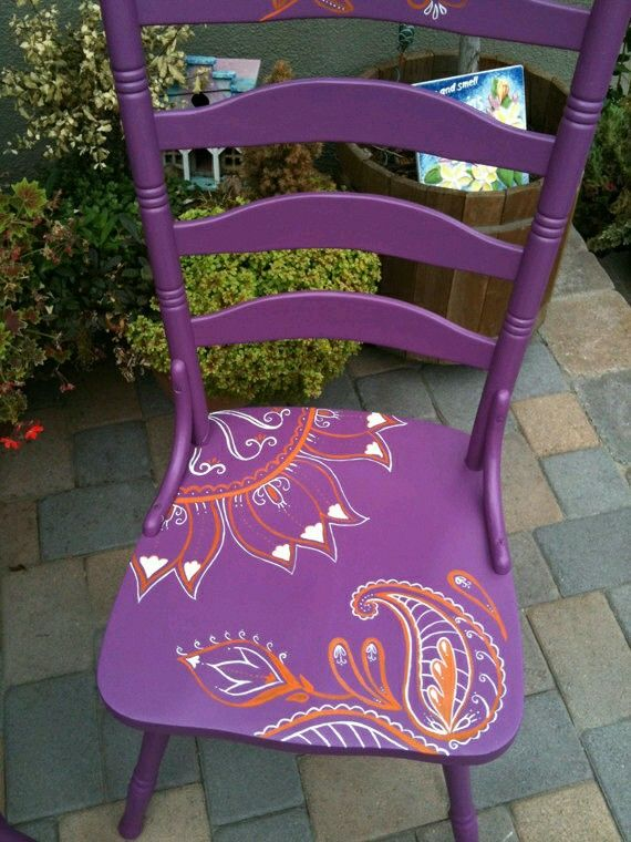 Silla pintada | MUEBLES en 2019 | Pinterest | Painted chairs