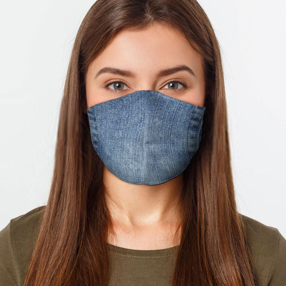Fashion Face Mask Denim Face Cover Washable Reusable Uneedum