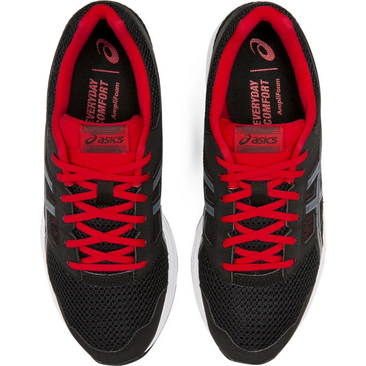 Training Running Sport Asics Shoes Asics Gel Contend 5 M 1011a256 005 Black Red Black And Red Shoes Asics Running Shoes