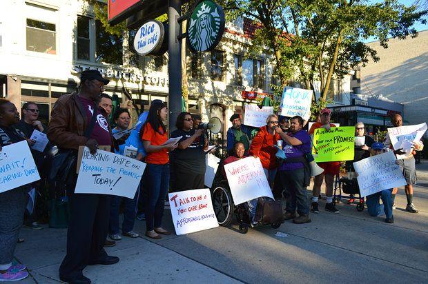 Protesters pressure Alderman Joe Moore on CHA surplus -- DNAInfo