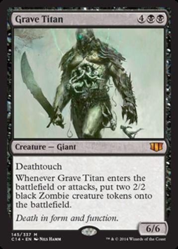 Grave Titan X4 Magic The Gathering 4x Commander 2014 Mtg Card Mythic Rare Black Baraja De Cartas Cartas Campo De Batalla