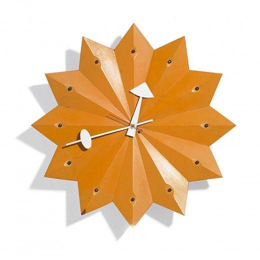 The Pleated Star Model 2223c Wall Clock Howard Miller Clock Company 1954 Vintage Clock Nelson Clock Analog Clock