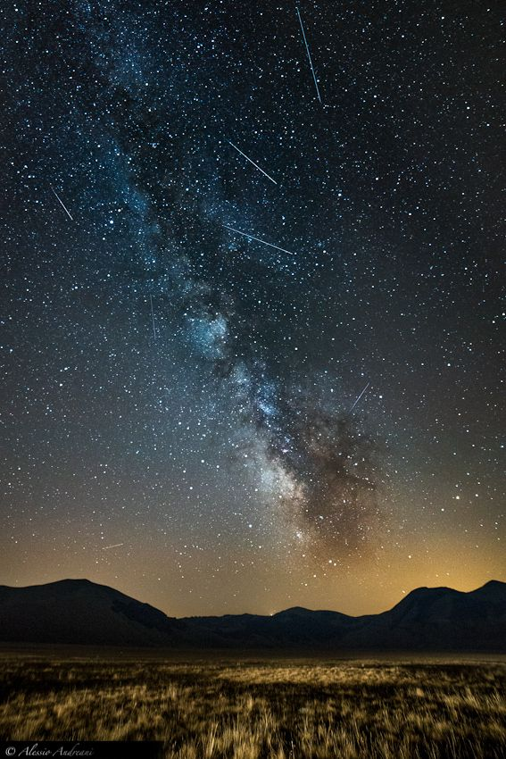 Perseid Meteors Shower 2012 by Alessio Andreani, via 500px