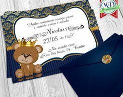 Convite Urso Princípe Urso Principe Azul Baby Shower Baby E Shower
