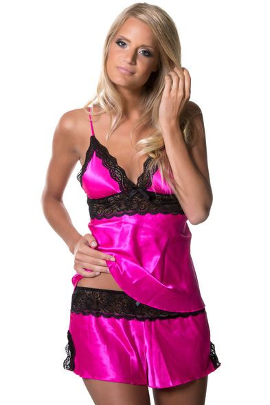 Enchanting Satin Pyjamas Set - Rosa.  pink  pyjamas  pj  421db36cd7911