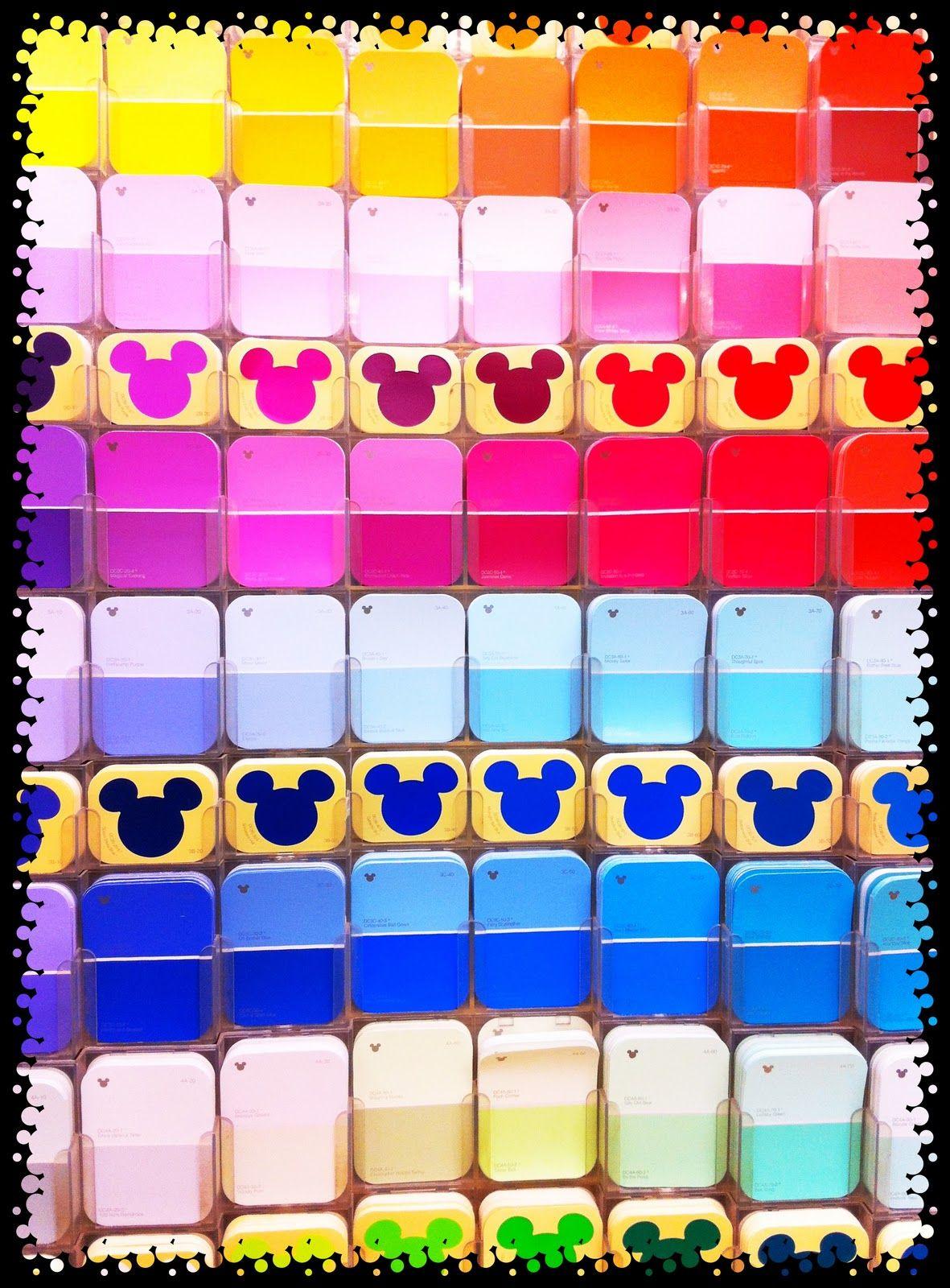 Disney Paint Colors