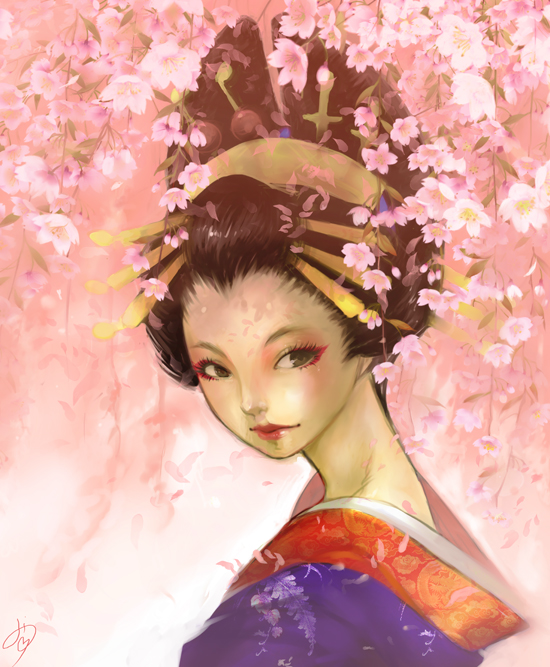 Oiran (Weeping cherry version) by Diana Jakobsson