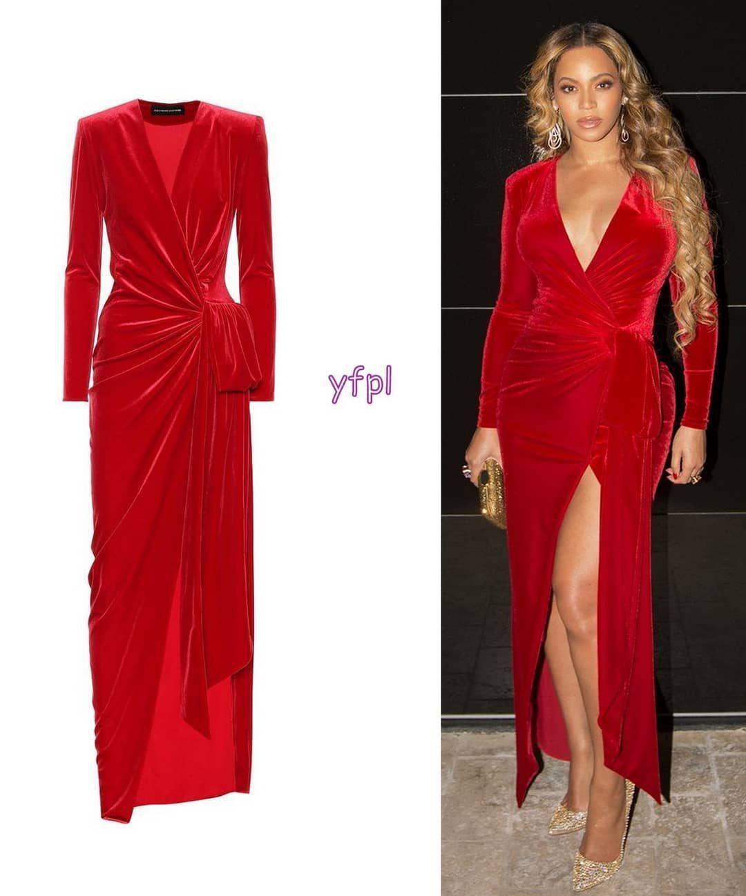 c2c74688 @beyonce wearing ALEXANDRE VAUTHIER Wrap Front Velvet Maxi Dress ($1,523)  @alexandrevauthier 🐝 #beyonce #beyoncé #fashion #looks…