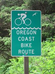 Bicycle touring down the Oregon Coast to California.