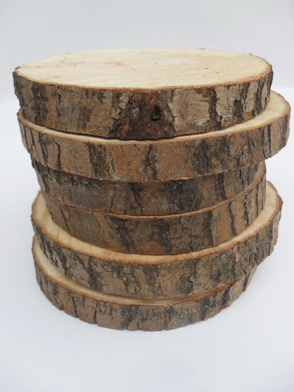 Wood slices, rustic wedding decor, tree slices, level wood slices, wedding centerpieces, slic... Wo