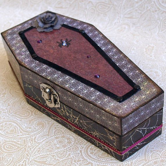 Gothic Halloween Jewelry Box Coffin Products I Love Pinterest