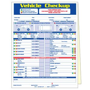 Point Vehicle Inspection Form  Mechanic Shop