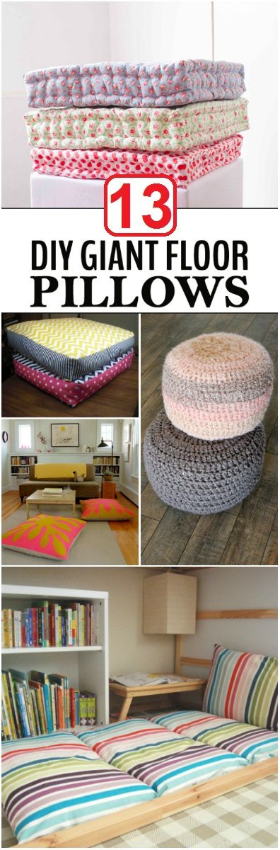 13 stylish and super comfy diy giant floor pillows extra seating 13 stylish and super comfy diy giant floor pillows extra seating floor pillows and design elements solutioingenieria Images