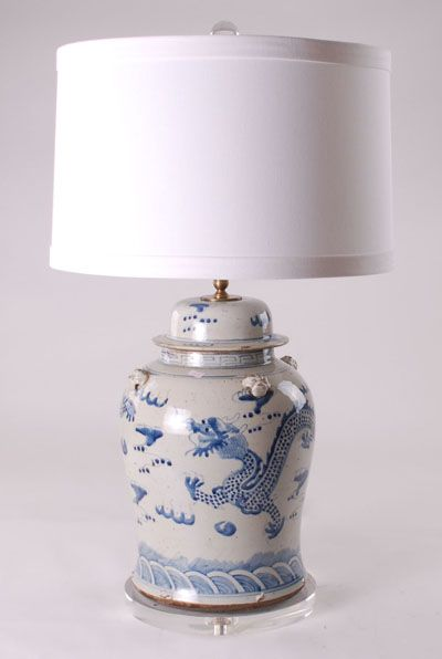 Good B/W Lamp Description: B/W Dragon Lamp W/acrylic Base And Drum Shade Item  Size: Price: Login To See The Price Quantity: